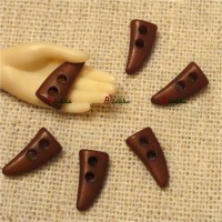 NDB028BRN Bjd Doll Dress DIY Crafts 10mm Mini Horn Button Brown