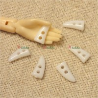 NDB028WHE Doll Dress DIY Crafts 10mm Mini Horn Button White