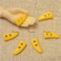 NDB028YEW Doll Coat DIY Crafts 10mm Mini Horn Button Yellow