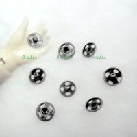 NDB030DGY 5mm Brass Round Snap Button Dark Grey (12 Sets)