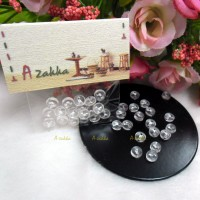 NDB032CLR Doll DIY Craft Tiny Button Round 5mm Transparent Clear