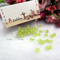 NDB032GRN Doll DIY Craft Tiny Button Round 5mm Transparent Green