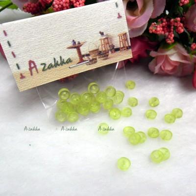 NDB032GRN Doll DIY Craft Tiny Button Round 5mm Transparent Green