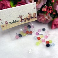 NDB032MIX Doll DIY Craft Tiny Button Round 5mm Transparent Mix