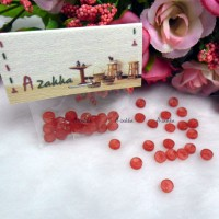 NDB032RED Doll DIY Craft Tiny Button Round 5mm Transparent Red