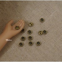 DIY Materials Round 3mm Metal Mini Button Copper 20pcs NDB033CPR