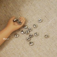 DIY Materials Round 3mm Metal Mini Button Silver 20pcs NDB033SLR