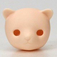 Obitsu 11cm Body 1/6 Doll Animal Kuma Bear Head with Ear White Skin HD-PB-1105W