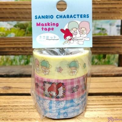 Sanrio Twin Star Melody Cinnamoroll Dog Masking Tape 15mm x 5 meter (3 Rolls) 464111