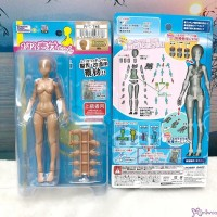 Premium Parts Collection 1/12 BJD Mini Figure Female Body Doll Brown Tan Skin PPC-T46