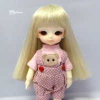 "WM21-02-HB Hujoo Baby Bjd 4-5"" Heat Resistant Long Wig Blonde"