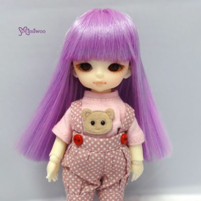 WM21-02-VL Hujoo Baby Suve Is Obitsu 21cm Head Long Wig Purple