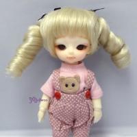 "WM21-2TS-HB Hujoo Baby 4-5"" Heat Resistant Curl Braid Wig Blonde"