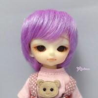 WM21-BOB-VL Hujoo Baby Doll Suve Ted Obitsu 21cm Bob Wig Purple