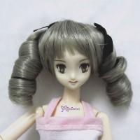 PW27-2TS-LGY Mimi Obitsu 1/6 Dollfie Curl Braids Wig Lt. Grey