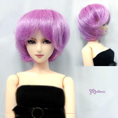 """WM27-BOB-VL 3.5""""-4"""" Short Bob Heat Resistant 1/6 Wig Violet"""