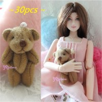 4cm Mini Plush Teddy Bear Brown 30pcs Set WAB001S-BN