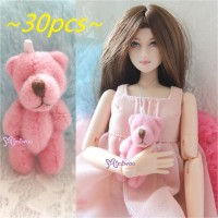 4cm Mini Plush Teddy Bear Pink 30pcs Set WAB001S-PK