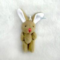 WAB003BRN 1/6 Momoko Blythe 4cm Mini Plush Bunny Rabbit Brown