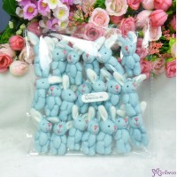5.5cm Mini Plush Bunny Rabbit Blue (20pcs Set) WAB003S-BE