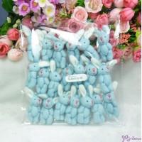 5.5cm Mini Plush Bunny Rabbit Blue (20pcs Set) WAB003S-BE