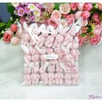 5.5cm Mini Plush Bunny Rabbit Pink (20pcs Set) WAB003S-PK