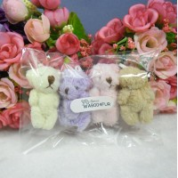 Mini Plush Velboa Soft Teddy Bear (4psc Set) WAB004FUR