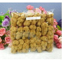 4cm Mini Plush Velboa Soft Teddy Bear BROWN (20pcs) WAB004S-DB
