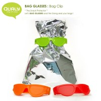 QL10070-RD-GN-OR QUALY Home Snack Protector Bag Glasses Set B