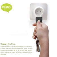 QL10076-BLACK QUALY Living Styles Unplug Key Ring Keyring Holder