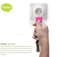 QL10076-PINK QUALY Living Styles Unplug Key Ring Keyring Holder
