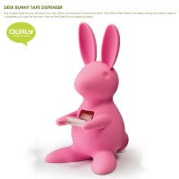 QL10114-PINK QUALY Home Office Desk Bunny Tape Dispenser