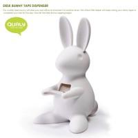 QL10114-WHITE QUALY Home Office Desk Bunny Tape Dispenser