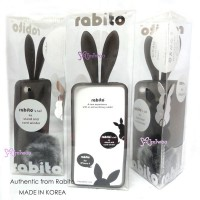 RA001TBK Korea Rabito iPhone 4 Case Cover Transparent Black
