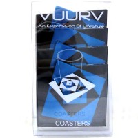 RS-01-BLE Vuurv Silicone Coaster Heat Insulation Rose Blue