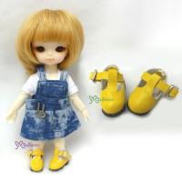 Middie B 2.2cm Doll Shoes Maryjane Yellow SBB002YEW