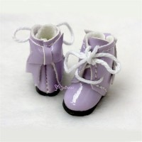 SBB007PUE Hujoo Baby Obitsu 11cm Body Shoes Ribbon Boots Purple