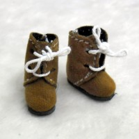 SBB008LBN Hujoo Baby Obitsu 11cm Body Shoes Flocked Boots Lt.Bro