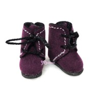SBB008PUE Hujoo Baby Obitsu 11cm Body Shoes Flocked Boots Purple