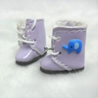 SBB014PUE Middie Blythe Hujoo Baby Shoes 3D Elephant Purple