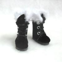 SBB020BLK MB OB 11cm Bjd Doll Shoes Plushy Boots Black