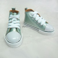 SHB032LGN SD13 Boy BJD Doll Shoes Metallic Sneaker Lt. Green