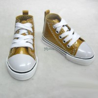 Super Dollfie SD13 Boy Shoes Metallic Sneaker Brown SHB032BRN