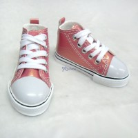 Super Dollfie SD13 Boy Shoes Metallic Sneaker Cherry SHB032CHY
