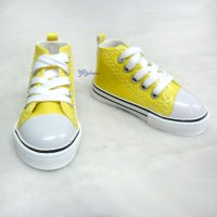 Super Dollfie SD13 Boy Shoes Metallic Sneaker Yellow SHB032YEW