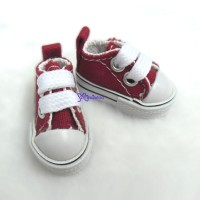 SHH011RED Hujoo Berry Yomi Wings Obitsu 1/6 Male Denim Shoes Red