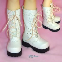 SHM041WHE MSD DOC 1/4 bjd doll Shoes PU Leather Causal Boots WHE