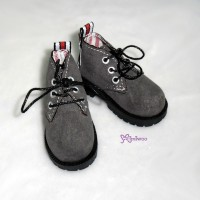 SHM042GRY MSD DOD DOC 1/4 bjd Doll Velvet Hiking Shoes Grey