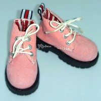 SHM042PNK MSD DOD DOC 1/4 bjd Doll Velvet Hiking Shoes Pink