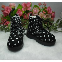 MSD Sasha Obitsu 60cm Doll High Hill Dots Shoes Black SHM076BLK